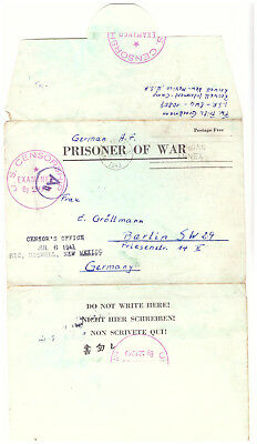Kgf. Pow Camp Feldpost Brief Roswell Camp New Mexico Juli 1943 (68)