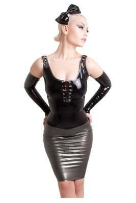 SHELF CLEARANCE R0997 Latex WESTWARD BOUND TOP BLK/RED 10 RRP £79.00