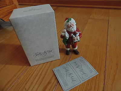 Hallmark Hand-Painted Fine Porcelain Jolly ST. Nick 1986 Special Edition (c012)