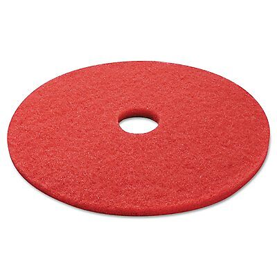 Boardwalk 4021RED Standard 21-inch Diameter Buffing Floor Pads, Red