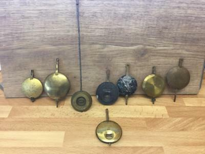 8 VINTAGE MANTLE CLOCK ADJUSTABLE LEAD PENDULUM BOB's