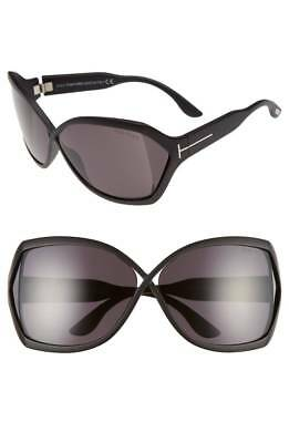 Tom Ford FT0427W02A Women's Sunglasses Matte Black Oversized Frame Smoked Lens