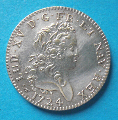 Louis D´or 1724 Ludwig XV. Medaille mit 8 g + 28 mm