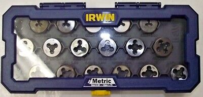 """Irwin 4935061 Metric 1"""" Hex Dies 3mm to 12mm with Coarse Fine USA"""