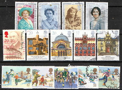 QEII 1990  3 used Commemorative sets (j239)