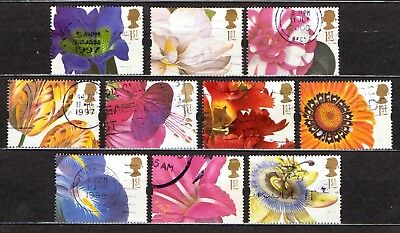 QEII 1997 Greetings stamps Flowers used set (j393)