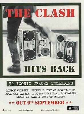 Music Press Advert  For The Clash 2013  Album : Hits Back