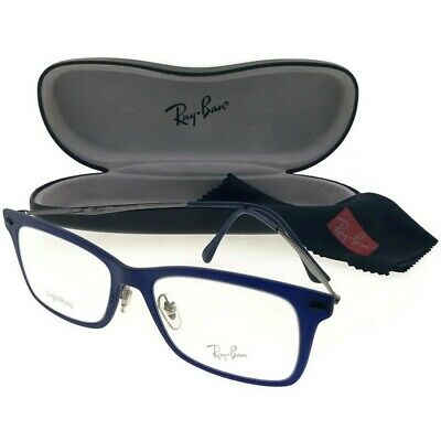 75863993a7 Ray Ban RX7039-5451 Light Ray Unisex Blue Frame Clear Lens Genuine  Eyeglasses