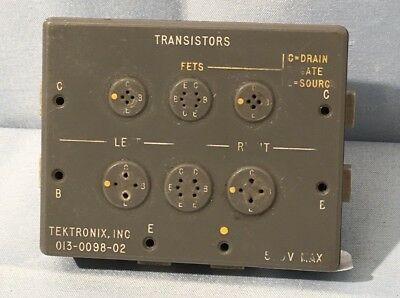 Tektronix 013-0098-02 Curve Tracer Transistor Adapter TESTED