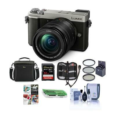 Panasonic Lumx DC-GX9 Mirrorless Camera w/12-60mm Lens Silver And Free Accessory