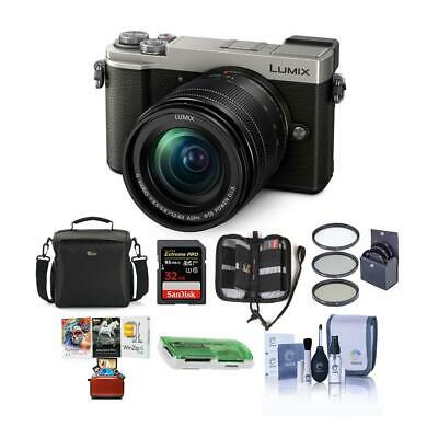 Panasonic Lumix DC-GX9 Mirrorless Camera w/12-60mm Lens Silver And Free Accesory