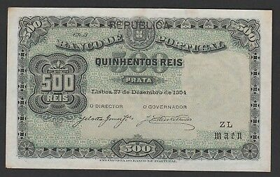 500 Reis From Portugal 1904 Aunc