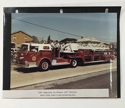 1961 American LaFrance 100' Apparatus Steelton Fire Dept. West Side Hose Photo