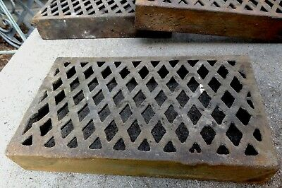 "Antique Cast Iron Air Grate - Old Architectural Salvage - 9"" x 5 1/8"" -      #2"