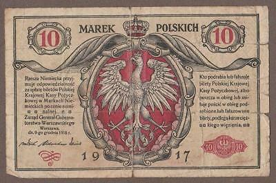 1917 Poland 10 Marek Note