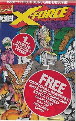 X-Force No.1 / 1991 OVP mit Cable Trading Card / Rob Liefeld