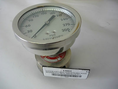 Ashcroft: 35-1009A General Service Gauge with Diaphragm Seal, 300PSI, 1/4 NPT