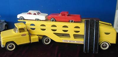 Vintage 1960's Tonka Motor Transport Car Carrier w/ Ford Falcons