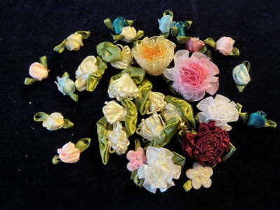 """Millinery Ribbon Flower Trim Collection 1/4"""" - 1 1/2"""" Variety H2105"""