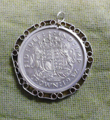 #d392. 1937  Great Britain  Silver  Coronation  Crown In Pendant