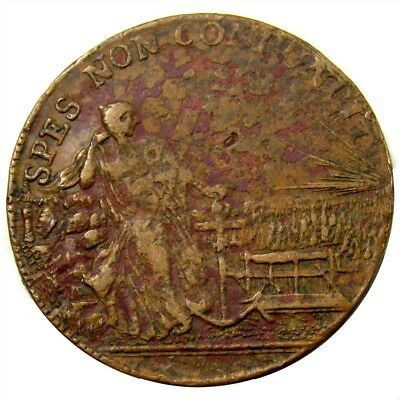 18th Century German States Jeton - Spes Non Confundit - Germany Good Luck Token
