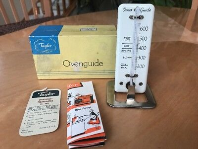 VINTAGE Taylor Oven-Guide Thermometer #5927 With Original Box & Instructions