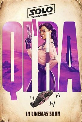"SOLO A STAR WARS STORY 2018 Original QI'RA Ver E DS 2 Sided 27x40"" Movie Poster"