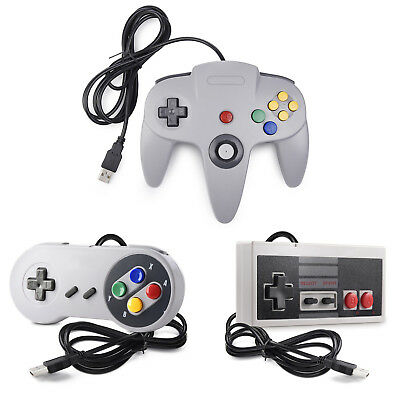 N64 / SNES / NES USB Wired Gaming Controller Pad Joystick For PC
