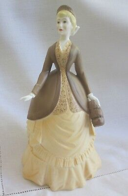 1978 ROYAL WORCESTER porcelain figurine AUTUMN SONG RW4987 yellow & brown