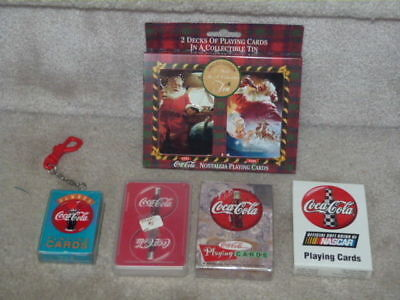 Awesome Lot Of 7 Coca Cola Coke Playing Cards Nascar + Nostalgia + Others Wow!