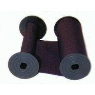(2 Pack) RAPIDPRINT TIME STAMP RIBBON, COTTON, PURPLE INK, INDIVIDUALLY SEALED