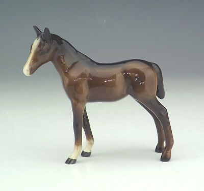 Beswick Pottery - Hand Painted Bay Horse Foal Figure - Lovely!