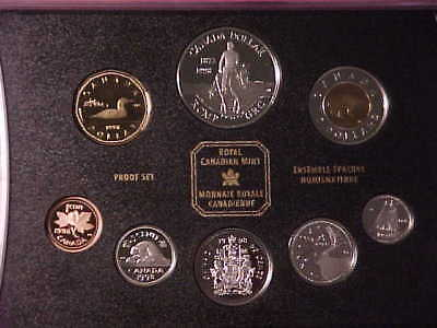 Canada 8-Coin Sterling Silver Proof Set 1998 Nice In Case Rcmp