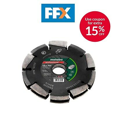 Metabo Dia-CD2 125mm 2R Professional UP Universal Wall Chaser Blade for MFE40