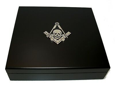 20 Cigar Humidor Black Widows Sons Motorcycle Masons Masonic Freemasons