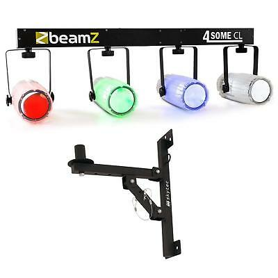 Ensemble Jeu De Lumiere Beamz Led Moonflower + Support Fetes Sono Dj Clubs Clear