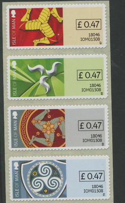 47p new rate 2018 STAMPEX ONLY BOXED VALUE Isle of Man Triskelion POST & GO