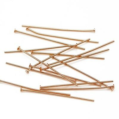 Rose Gold Vermeil 925 Sterling Silver Flat Head T Pins Jewellery Making Findings