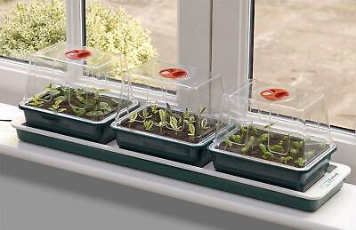Garland G50 Trio Top Electric Windowsill Vented Seed Propagator 3 Trays