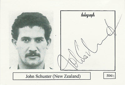 John Schuster NEW ZEALAND RUGBY PLAYER SIGNED PHOTO CARD ORIGINAL AUTOGRAPH