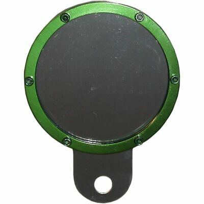Tax Disc Holder Round Green Rim 6 Studs Silver Backing