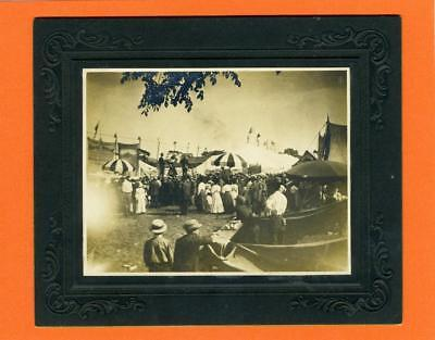 X700LB Vintage Matted Photo Mighty Haag Show, St Albans Vt. July 1, 1911