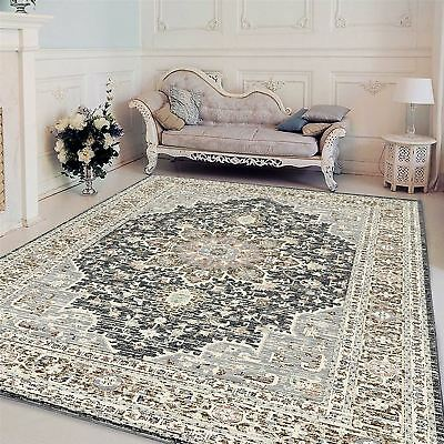 A2Z Large Vintage Persian Style Rug Shabby Chic Floral Medallion Living Room Rug