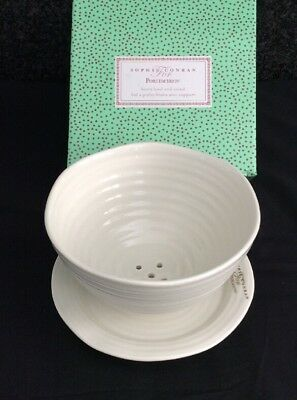 Sophie Conran Portmeirion Berry Bowl & Stand White New Boxed