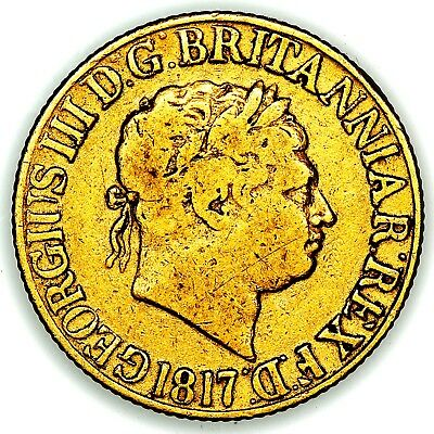 1817 King George III Great Britain London Gold Sovereign