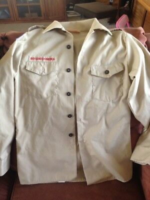 Boy Scouts of America Shirt Uniform Youth Large Long Sleeved