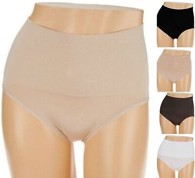 Breezies 2 (Two ) Seamless Control Brief Panties Jacquard or Plain A273436