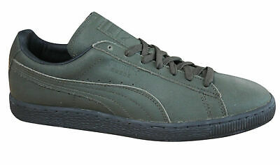 PUMA SUEDE CLASSIC Winterized Mens Trainers Leather Green 363533 02 PO