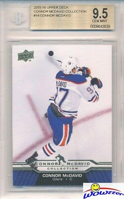 2015/2016 UD Connor McDavid Collection #14 ROOKIE BGS 9.5 GEM MINT Oilers !!
