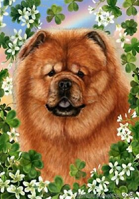 Garden Indoor/Outdoor Clover Flag - Chow Chow 311141